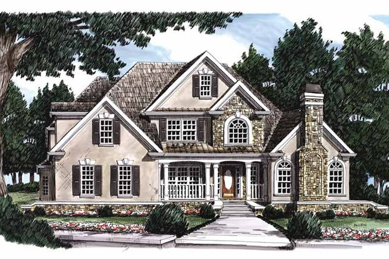 Country Exterior - Front Elevation Plan #927-87