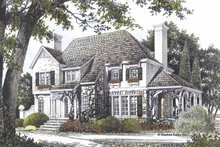 Home Plan - Country Exterior - Front Elevation Plan #429-71