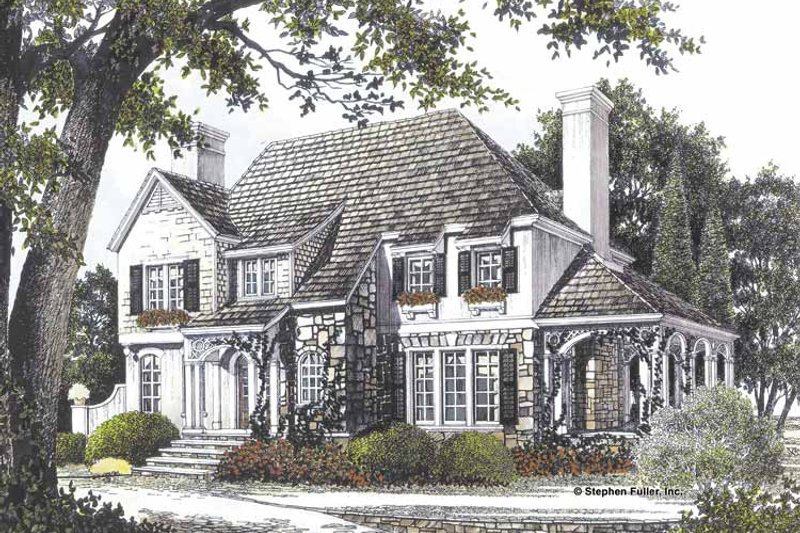 Country Exterior - Front Elevation Plan #429-71 - Houseplans.com
