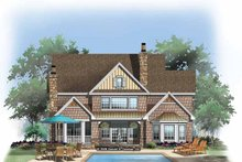 Architectural House Design - Craftsman Exterior - Rear Elevation Plan #929-832