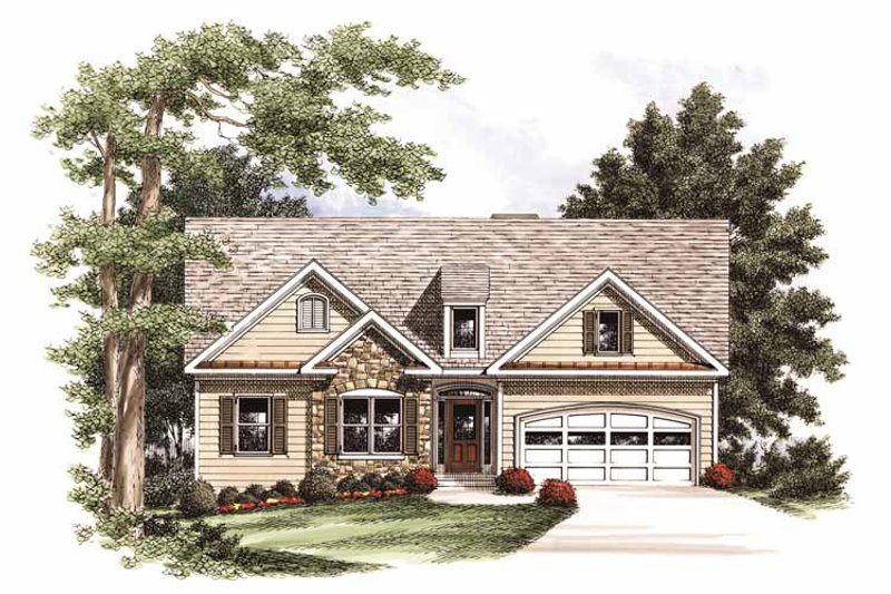 Ranch Exterior - Front Elevation Plan #927-694