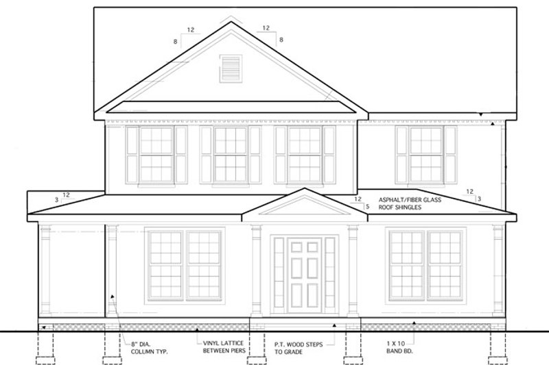 Traditional Exterior - Front Elevation Plan #1053-53 - Houseplans.com