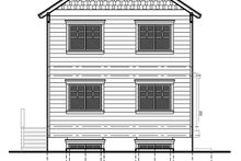 Craftsman Exterior - Rear Elevation Plan #303-473