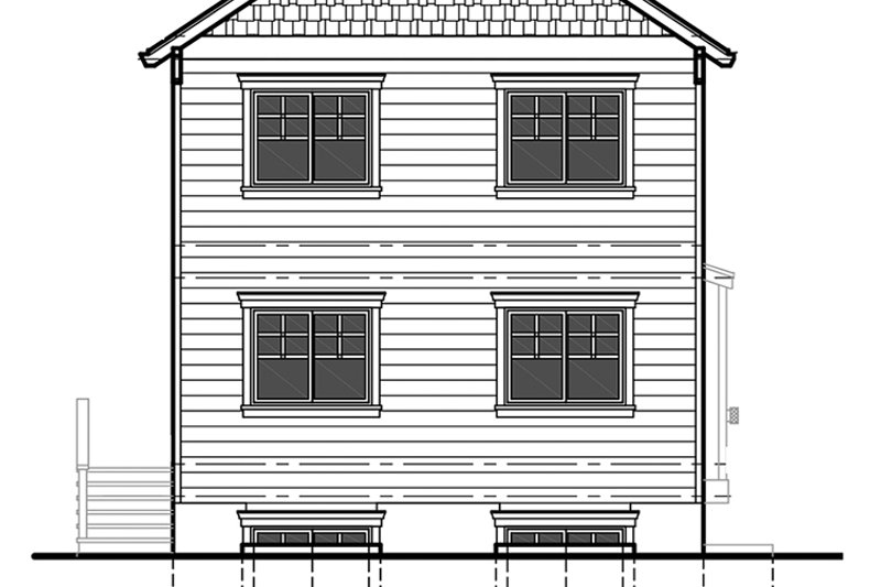 Craftsman Exterior - Rear Elevation Plan #303-473 - Houseplans.com