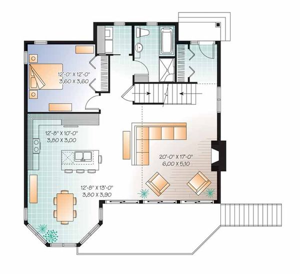 European Floor Plan - Main Floor Plan Plan #23-2511