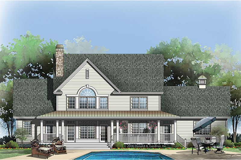 Country Exterior - Rear Elevation Plan #929-853 - Houseplans.com