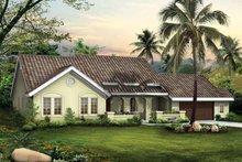 House Blueprint - Mediterranean Exterior - Front Elevation Plan #72-792