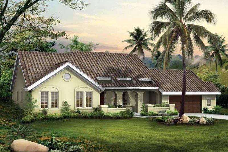 House Plan Design - Mediterranean Exterior - Front Elevation Plan #72-792