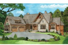 European Exterior - Front Elevation Plan #929-894