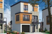 Contemporary Style House Plan - 3 Beds 1.5 Baths 1015 Sq/Ft Plan #23-2600 Exterior - Front Elevation
