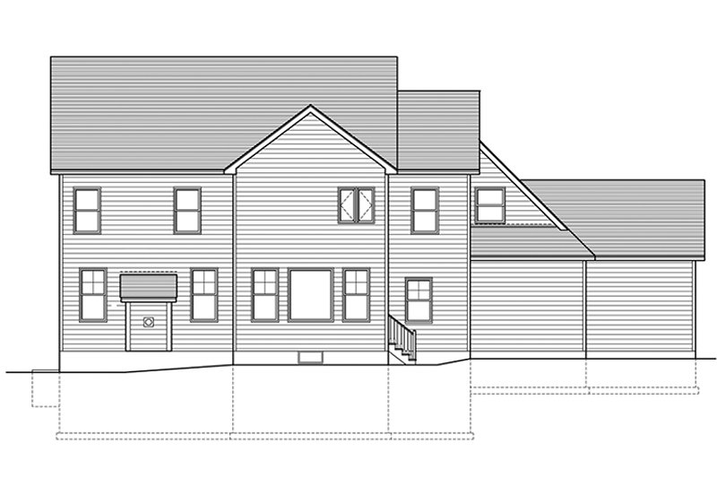Traditional Exterior - Rear Elevation Plan #1010-158 - Houseplans.com