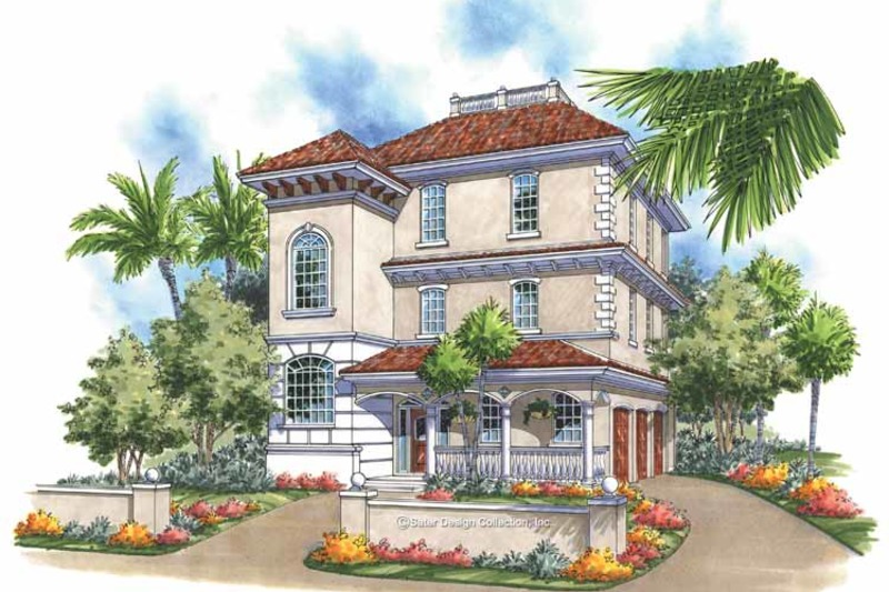 Mediterranean Exterior - Front Elevation Plan #930-167