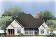 Traditional Style House Plan - 4 Beds 3 Baths 2641 Sq/Ft Plan #929-788 Exterior - Rear Elevation