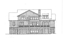 Craftsman Exterior - Rear Elevation Plan #429-272