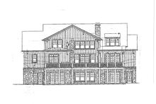 Home Plan Design - Craftsman Exterior - Rear Elevation Plan #429-272