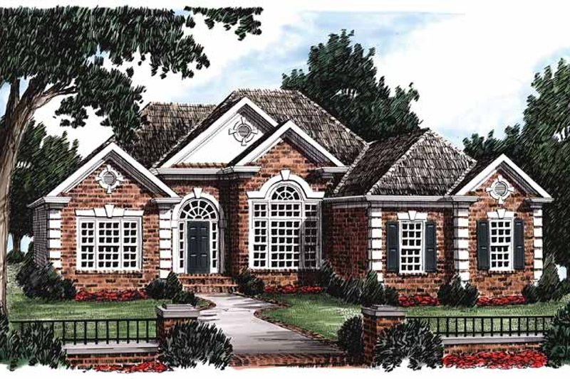 Ranch Exterior - Front Elevation Plan #927-44 - Houseplans.com