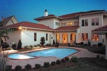 House Plan Design - Mediterranean Exterior - Rear Elevation Plan #453-383