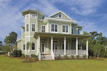 Home Plan - Country Exterior - Rear Elevation Plan #930-358