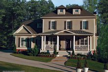 Home Plan Design - Traditional Exterior - Front Elevation Plan #54-342