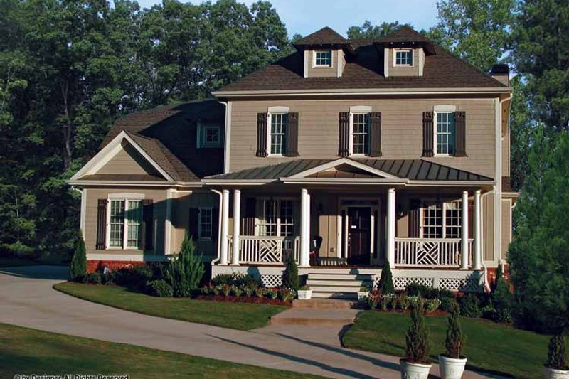 Home Plan - Traditional Exterior - Front Elevation Plan #54-342