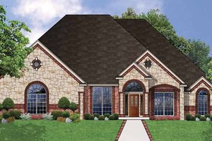 Architectural House Design - Country Exterior - Front Elevation Plan #62-157