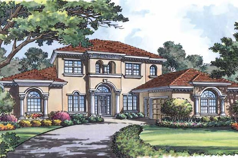 Mediterranean Exterior - Front Elevation Plan #417-572