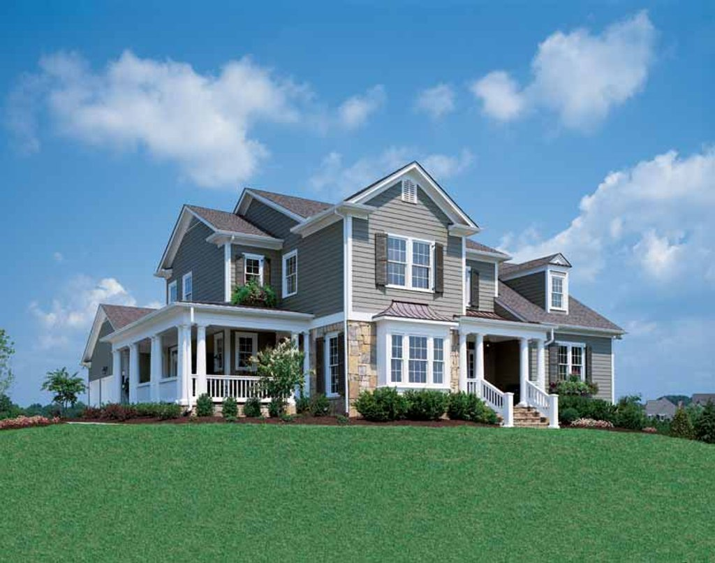 Country Style House Plan - 4 Beds 3.5 Baths 2845 Sq/Ft Plan #429-258 ...