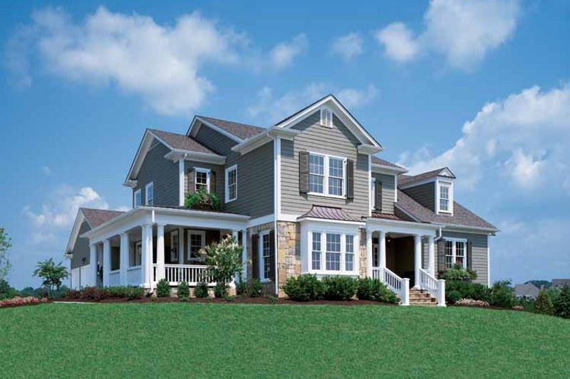 Architectural House Design - Country Exterior - Front Elevation Plan #429-258