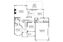 Colonial Floor Plan - Main Floor Plan Plan #1053-64
