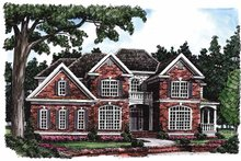 Colonial Exterior - Front Elevation Plan #927-191
