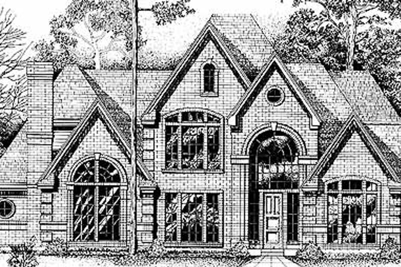 Country Exterior - Front Elevation Plan #974-1