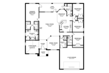 Prairie Floor Plan - Main Floor Plan Plan #1058-26