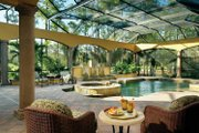 Mediterranean Style House Plan - 4 Beds 4.5 Baths 5109 Sq/Ft Plan #930-98 Exterior - Rear Elevation