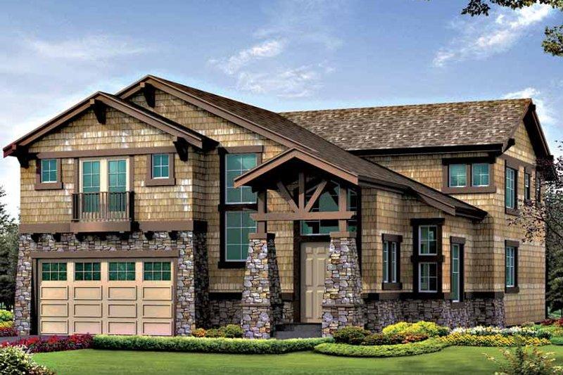 Craftsman Exterior - Front Elevation Plan #132-414 - Houseplans.com