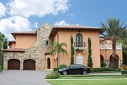 Mediterranean Style House Plan - 5 Beds 5 Baths 7411 Sq/Ft Plan #1058-16 Exterior - Front Elevation