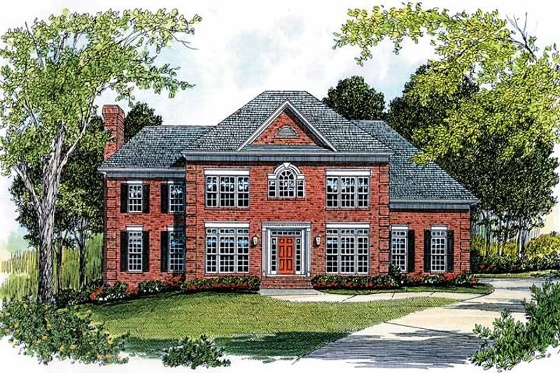 Dream House Plan - Colonial Exterior - Front Elevation Plan #453-384
