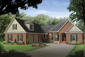 House Design - Country Exterior - Front Elevation Plan #21-419