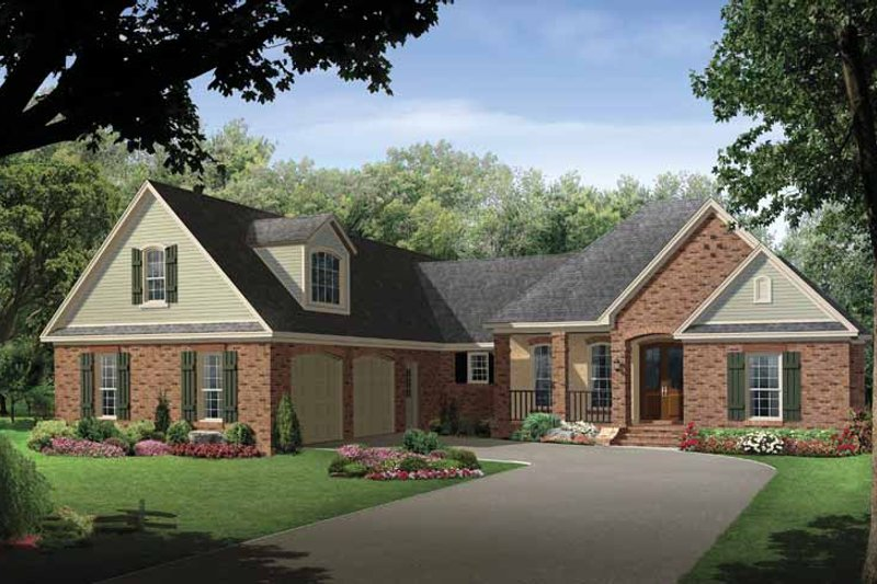 Architectural House Design - Country Exterior - Front Elevation Plan #21-419