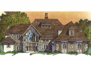 Architectural House Design - European Exterior - Front Elevation Plan #1016-97