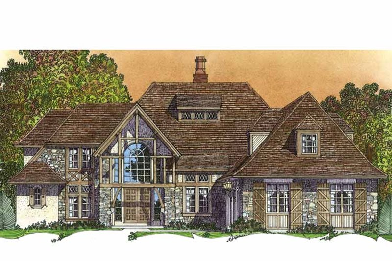 European Exterior - Front Elevation Plan #1016-97