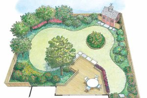 Architectural House Design - Exterior - Rear Elevation Plan #1040-62