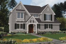 Dream House Plan - Tudor Exterior - Front Elevation Plan #48-872