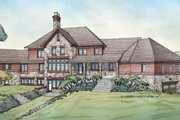 Country Style House Plan - 4 Beds 4.5 Baths 5008 Sq/Ft Plan #928-265 Exterior - Rear Elevation