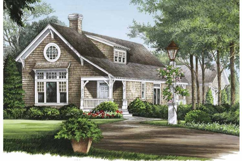House Plan Design - Colonial Exterior - Front Elevation Plan #137-324