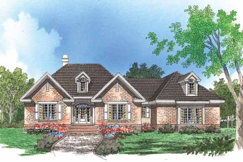 Traditional Exterior - Front Elevation Plan #929-575