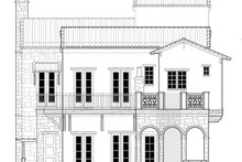 Mediterranean Exterior - Rear Elevation Plan #1058-152
