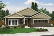 Craftsman Style House Plan - 3 Beds 2 Baths 1709 Sq/Ft Plan #943-15 Exterior - Front Elevation
