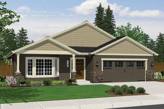 Craftsman Exterior - Front Elevation Plan #943-15