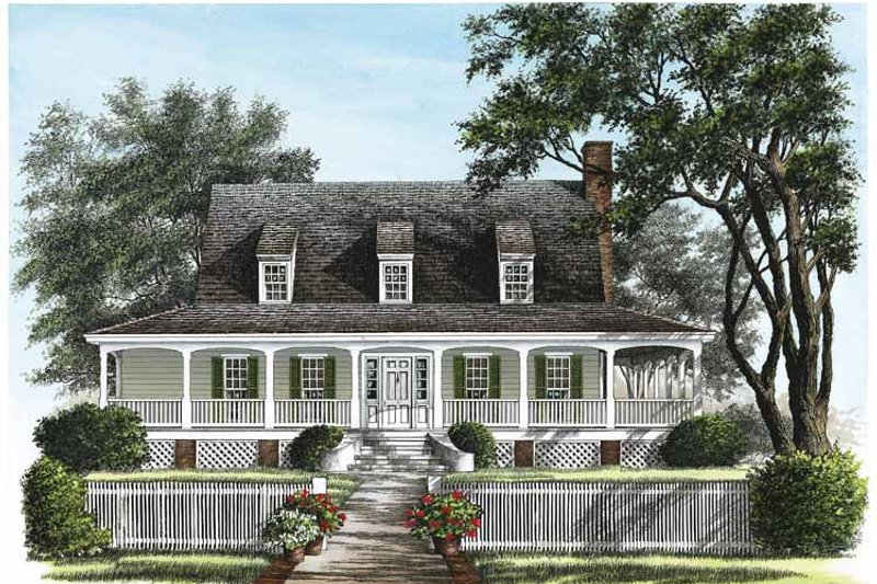 Architectural House Design - Traditional Exterior - Front Elevation Plan #137-329