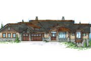 Craftsman Style House Plan - 4 Beds 4.5 Baths 5319 Sq/Ft Plan #945-139 Exterior - Front Elevation